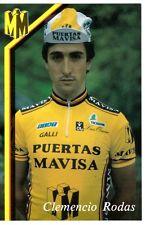 CYCLISME carte cycliste CLEMENCIO RODAS équipe PUERTAS MAVISA