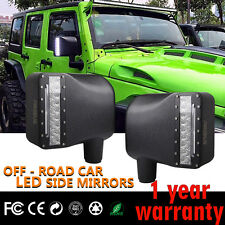 Firebug Jeep Side Mirror Housing Turn Signal Lights, LED Rear View Mirror Lights