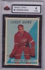 Gordie Howe 58/59 Topps #8 KSA 4 VGE