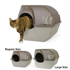Omega Paw Roll'N Clean Self Cleaning Cat Litter Box - Large