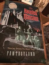 """HUGE 54"""" tall Park Size Disneyland Tokyo Haunted Mansion Attraction Poster RARE"""
