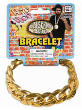 Pimp Gangster Costume Big Link Gold Chain Bracelet