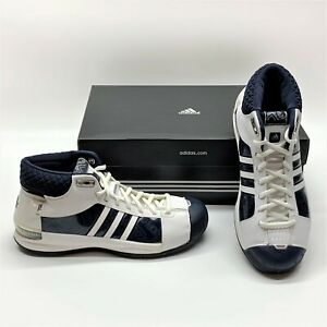 Adidas TS Pro Model Team Basketball Navy White Casual Sneakers Shoes Womens 7.5