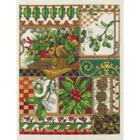"""Janlynn Counted Cross Stitch Kit Winter Montage 11"""" X 14"""" NEW 14 CT"""