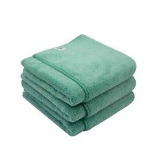 "10 PACK Microfiber 600 GSM Ultra Plush 16/"" x 16/"" Towel Cloth Green T605G-10"