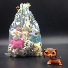 11×Littlest Pet Shop toy DACHSHUND LPS#675 dog +10 random pets lot with gift bag
