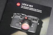 Leica M6 Meßsucher-Kamera 29seitige Infobroschüre; gebraucht