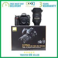 New Nikon D750 DSLR With Nikkor 24-120mm F/4.0 VR Lens Kit - 3 Year Warranty