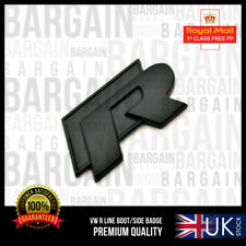VW R LINE BLACK SPORT BOOT WING BADGE PARTS EXHAUST GOLF TSI GTI TDI PASSAT