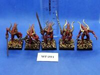 Warhammer Fantasy/40K - Chaos Daemons - Bloodletters of Khorne Painted - WF91