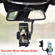 360° Car Rearview Mirror Mount Holder Stand Cradle For Cell Phone GPS Universal