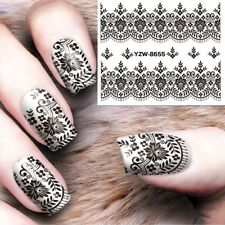 ���NOUVEAU STICKERS DENTELLE BIJOUX ONGLES WATER DECALS STICKERS NAIL ART