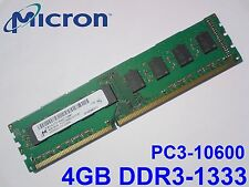 4GB DDR3-1333 PC3-10600 1333Mhz MICRON MT16JTF51264AZ-1G4M1 DESKTOP RAM SPEICHER