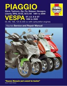 Piaggio Vespa 1991-2009 and 1996 to 2009 Haynes Manual Scooters 3492 *BRAND NEW*