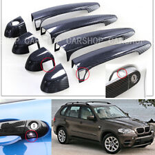 For BMW F20 F30 F32 F25 E70 E71 F80 Dry Real Carbon Fiber Car Door Handle Cover