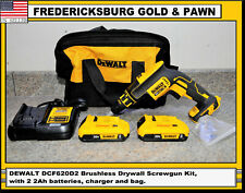 DEWALT DCF620D2 Brushless Drywall Screwgun Kit. Comes with 2 2Ah batteries.