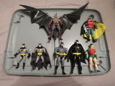 1990's Kenner DC LOT OF 7 Action Figures: Batman AND ROBIN PLAYED WITH SHAPE