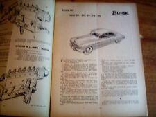 REVUE TECHNIQUE MECANIQUE RTA BUICK TYPES 40 / 50 / 60 / 70 / 90