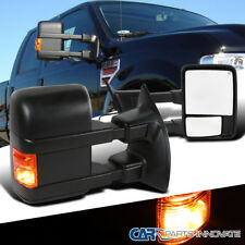 08-16 Ford F250 SuperDuty Power Heated Extendable Towing Mirror+LED Signal Lamps