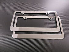 (2pcs) PLAIN Stainless Steel chrome METAL license plate frame - Front & Rear