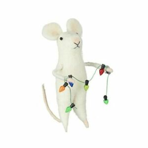 Heaven Sends Wool Mouse with Christmas Light Garland Decoration - Christmas Gift