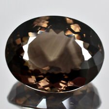 Natural Smoky Quartz AAA+ Brown Oval Cut Far Size Loose Gemstone 121.10 Cts VVS