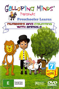 Galloping Minds: Numbers and Counting with Animals -Kids DVD Series New