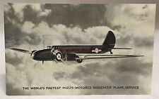 c1933 Postcard Boeing United Airlines Monoplane Airplane Chicago World Fair