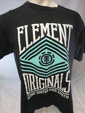 ELEMENT ORIGINALS  L black tee shirt
