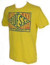 T-shirt maglietta girocollo uomo GUESS a. F62I10 taglia S col. G204 POP YELLOW