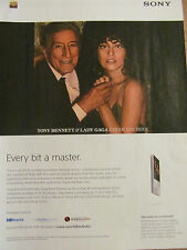 Lady Gaga and Tony Bennett, Sony Hi Res Audio, Full Page Promotional Ad