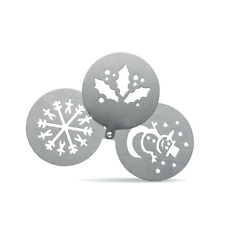 Coffee Cappuccino Stencil Duster Christmas Snowflake, Holly, Snowman Template