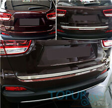 For 2016 2017 Kia Sorento Chrome Rear Trunk Tail Gate Door Cover Trim Molding