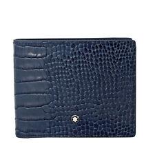Montblanc Meisterstuck Indigo Embossed Leather Wallet 114447