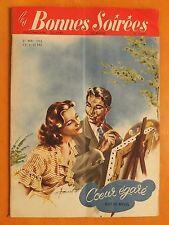 Les Bonnes Soirées N° 1634 du 31/05/1953.John Agar-Coeur égaré par Guy de Novel