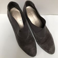 1290271ce53d Bandolino Gray Suede Ankle Bootie Stack Heel 10M