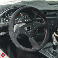 STEERING WHEEL GENUINE ALCANTARA SUEDE RED STITCH VIILANTE LEGGERA FITS NRG HUB