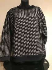 Vtg LL Bean Bird's Eye Knit Sweater Mad In Norway Women's Large Fisherman Ski