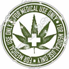 "Marijuana Cannabis Medical Use Drug Stamp Car Bumper Vinyl Sticker Decal 4.6"""