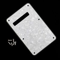 White Pearl 3 Ply Back plate Rear Tremolo Cover for Fender Stratocaster GUITAR