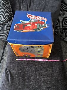 Hot Wheels Storage Box Car Cars Carry Case Zip Down Foldable Transportable Hold