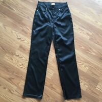Dolce And Gabbana Black Satin Jeans Pants Womens 29 Made In Italy J&ANS