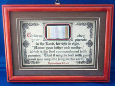 """New! Bible Verse Plaques//Signs""""CHILDREN OBEY YOUR PARENTS""""Christian Gift $35."""