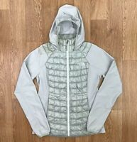 THE NORTH FACE Womens THERMOBALL HYBRID HOODIE | Puffer Jacket | Small S Grey