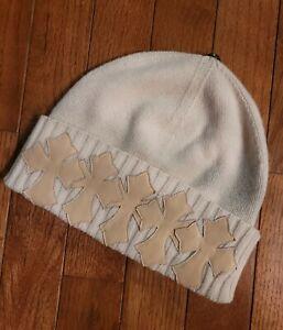RARE Vintage Amal Guessous A&G Chrome Hearts Hat Beanie Cap Cashmere Leather