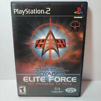 Star Trek: Voyager Elite Force PS2 (Sony PlayStation 2, 2001) No Manual