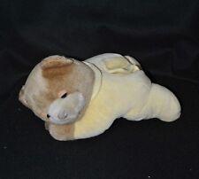 Peluche doudou ours jaune brun TUMMY SLEEP SLUMBER BEAR boitier HS 26 cm