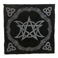 1x Altar Tarot Table Card Cloth Pentagram Divination Tapestry 19.29in Black