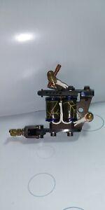 1 1/4 8/32 Tattoo Machine Shader Spider Web 8 Wrap Coils Brass Hardware