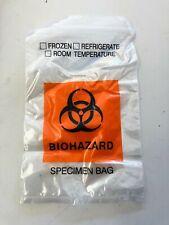 10 Stück Biohazard Specimen Transport Bag  NCIS EMS  15cm x 24cm